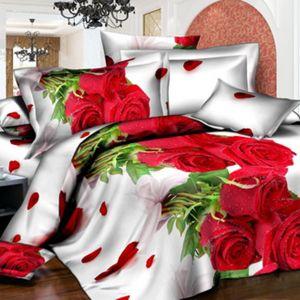 Pościel 3D - Miłosne Róże - 220x200 cm - 4 cz - 728-02