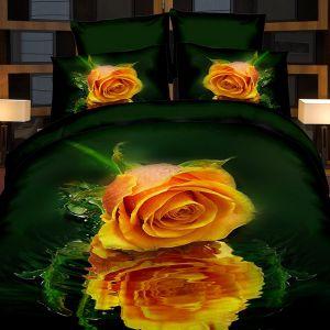 Pościel 3D - Różane Odbicie - 220x200 cm - 4 cz - 728-06
