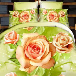 Pościel 3D - Różana Radość - 220x200 cm - 4 cz - 728-10