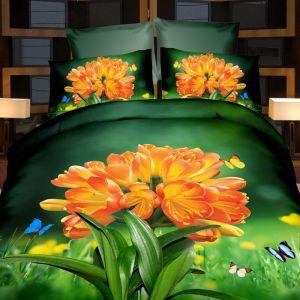 Pościel 3D - Kwitnnąca Łąka - 220x200 cm - 4 cz - 727-01