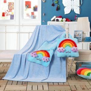 Koc poduszka - 110x160 - Niebieska Tęcza - BZ-1-160-03