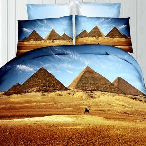 Pościel 3D - Piramidy - 220x200 cm - 4 cz - 236-06
