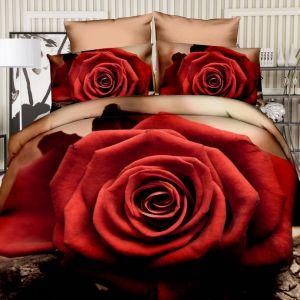 Pościel 3D - Miłosna Róża - 160x200 cm - 3 cz - 355-1-03