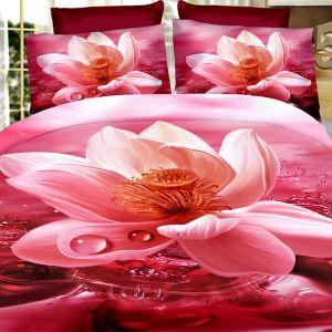 Pościel 3D - Różowy Spokój - 160x200 cm - 3 cz - 355-01