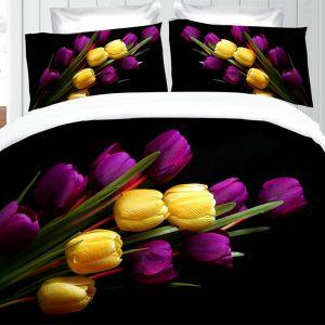 Pościel 3D - Tulipanowy Bukiet - 160x200 cm - 3 cz - 355-02