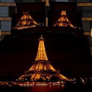 Pościel 3D - Paryż Nocą - 220x200 cm - 3 cz - 391-07