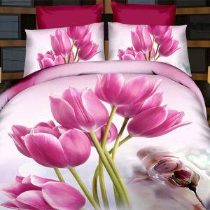 Pościel 3D - Tulipanowe Marzenie - 220x200 cm - 3 cz - 391-12