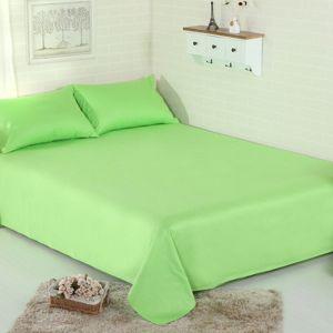 Prześcieradło bawełniane bez gumki 200x230 zielony - 200-230-09