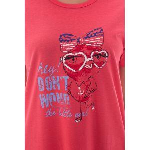 Koszula Nocna Damska Valerie dream - Czerwona (DP6338)