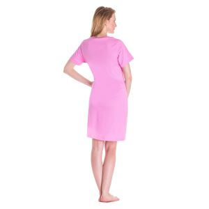 Koszula Nocna Benter - Jasno - Różowa (65599)