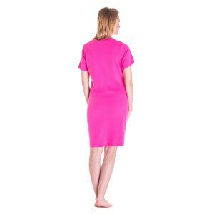 Koszula Nocna Benter - Ciemno - Różowa (65599)