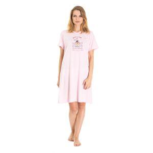 Koszula Nocna Benter - Jasno - Różowa (65619)