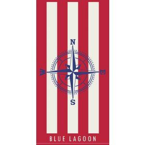 Ręcznik plażowy Blue Lagoon 70x140 - Róża Wiatrów