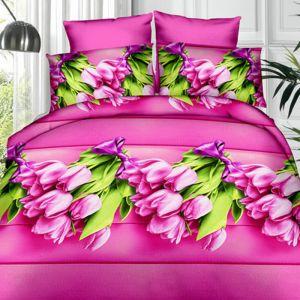 Pościel 3D - Modne Tulipany - 160x200 cm - 3 cz - 351-06