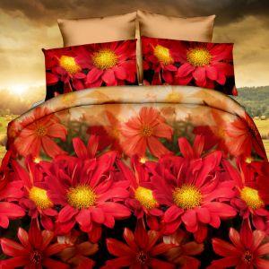 Pościel 3D kora - Kwiaty - 160x200 cm - 3 cz - 420-10