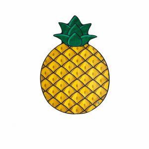 Koc plażowy - ananas