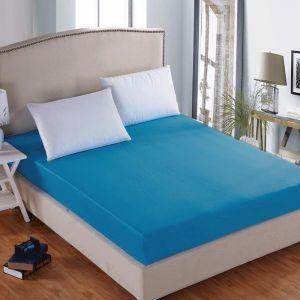 Prześcieradło bawełniane z gumką 180x200 ciemny niebieski - RG-180-06