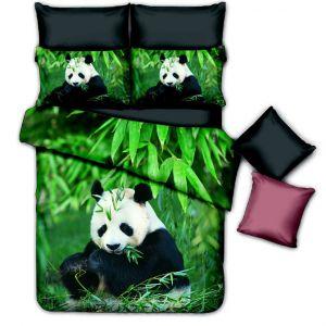 Pościel 3D - Słodka Panda - 160x200 cm - 3 cz - 401-04