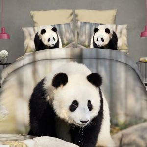Pościel 3D - Miś Panda - 160x200 cm - 3 cz - 922-03