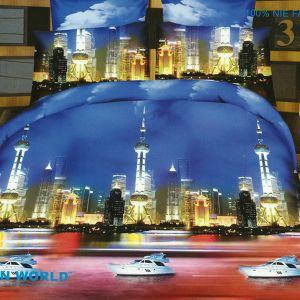 Pościel 3D - Niesamowita Noc - 160x200 cm - 4 cz - 166-04