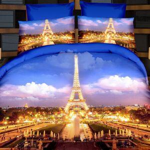 Pościel 3D - Romantyczny Paryż - 160x200 cm - 4 cz - 166-06