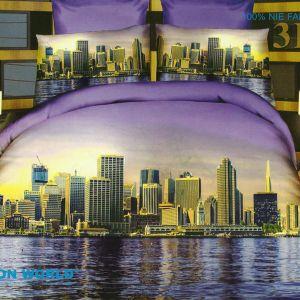 Pościel 3D - Urok Miasta - 160x200 cm - 4 cz - 166-08