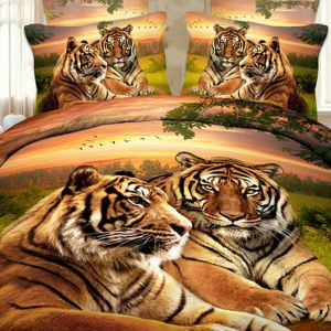 Pościel 3D - Tygrysi Spokój - 160x200 cm - 3 cz - 17009-03
