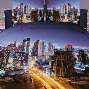 Pościel 3D - Nocne Miasto - 160x200 cm - 4 cz - MI6083