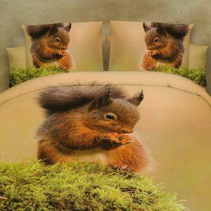 Pościel 3D - Mała Wiewiórka - 160x200 cm - 4 cz - MI6090