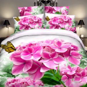 Pościel 3D - Delikatne Kwiaty - 160x200 cm - 4 cz - 4203-15