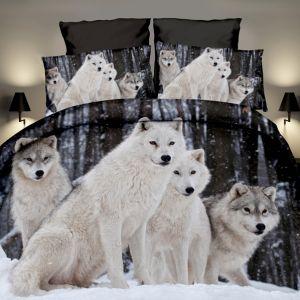 Pościel 3D - stado wilków - 160x200 cm - 3 cz - 4204-06