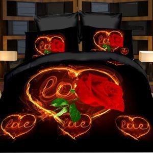 Pościel 3D - Róża Lowe - 160x200 cm - 4 cz - 1708-08