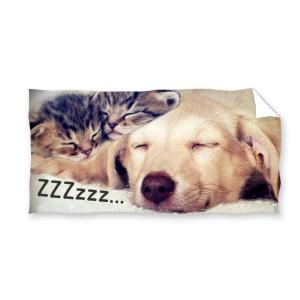 Ręcznik plażowy 70x140 - Śpiące Zwierzaki