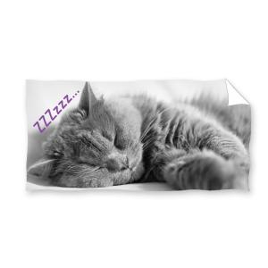Ręcznik plażowy 70x140 - Szary Kotek