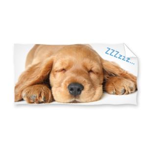 Ręcznik plażowy 70x140 - Śpiący Piesek