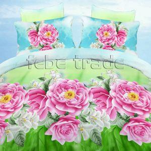 Pościel 3D - Kwiaty Dalie  - 160x200 cm - 3 cz - 386-08