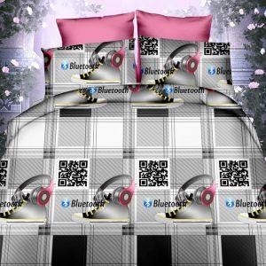 Pościel 3D - Nowoczesny wzór - 160x200 cm - 3 cz - 386-11