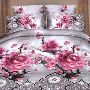 Pościel 3D - Delikatne Róże - 160x200 cm - 3 cz - 59-03