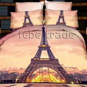 Pościel 3D - Wieża w Paryżu - 220x200 cm - 4 cz - 237-07