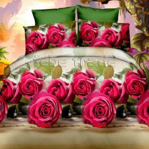 Pościel 3D - Różowe Róże - 220x200 cm - 3 cz - 352-02
