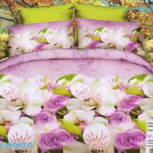 Pościel 3D - Kwiatowe Assorti - 220x200 cm - 3 cz - 352-12
