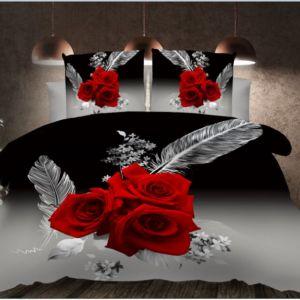 Pościel 3D - Róże Czerwone - 140x200 cm - 2 cz BE-D- 788-05