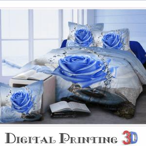 Pościel 3D - Niebieska Róża - 140x200 cm - 2 cz BE-D- 788-06