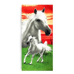 Ręcznik plażowy 70x145 cm - Białe Konie RPL-01