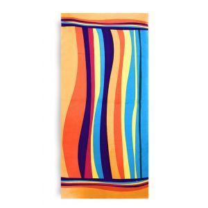 Ręcznik plażowy 70x145 cm - Kolorowe Pasy RPL-05
