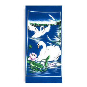 Ręcznik plażowy 70x145 cm - Białe Łabędzie RPL-12