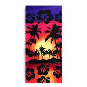Ręcznik plażowy 70x145 cm - Kolorowe Hawaje RPL-17