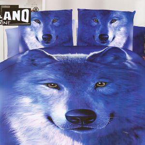 Pościel 3D - Niebieski Wilk - 160x200 cm - 4 cz - MI6183