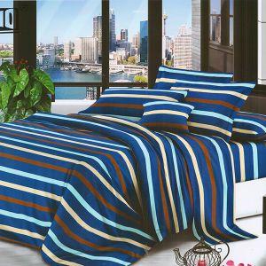 Pościel 3D - Niebieskie Paski - 160x200 cm - 4 cz - MI6189