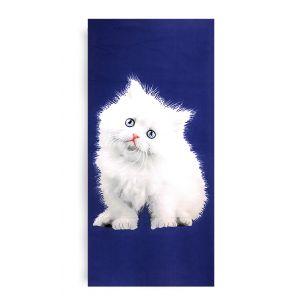 Ręcznik plażowy 70x145 cm - Biały Kotek RPL-30
